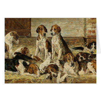 Hounds at Rest, Card