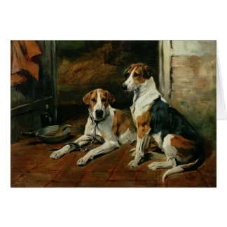 Hounds in a Stable, Card
