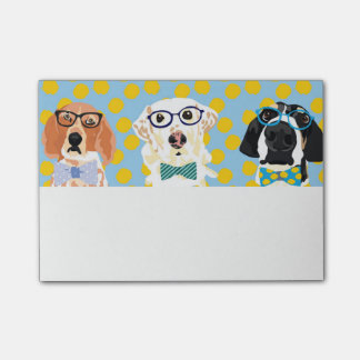 Hounds in Glasses Post-it® Notes