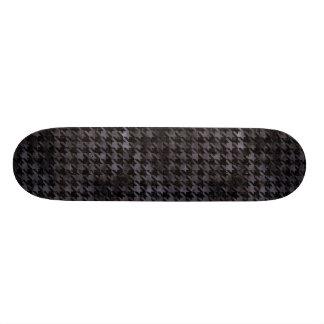 HOUNDSTOOTH1 BLACK MARBLE & BLACK WATERCOLOR 21.6 CM SKATEBOARD DECK