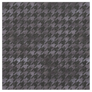 HOUNDSTOOTH1 BLACK MARBLE & BLACK WATERCOLOR FABRIC
