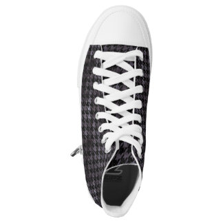 HOUNDSTOOTH1 BLACK MARBLE & BLACK WATERCOLOR HIGH TOPS