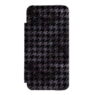 HOUNDSTOOTH1 BLACK MARBLE & BLACK WATERCOLOR INCIPIO WATSON™ iPhone 5 WALLET CASE