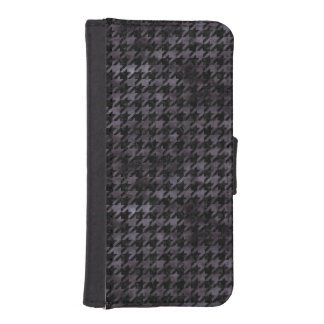 HOUNDSTOOTH1 BLACK MARBLE & BLACK WATERCOLOR iPhone SE/5/5s WALLET CASE