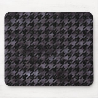 HOUNDSTOOTH1 BLACK MARBLE & BLACK WATERCOLOR MOUSE PAD