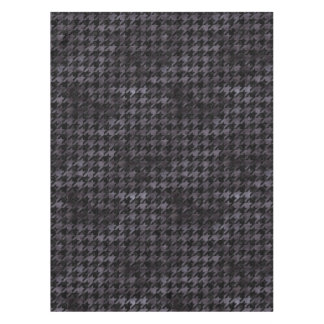 HOUNDSTOOTH1 BLACK MARBLE & BLACK WATERCOLOR TABLECLOTH