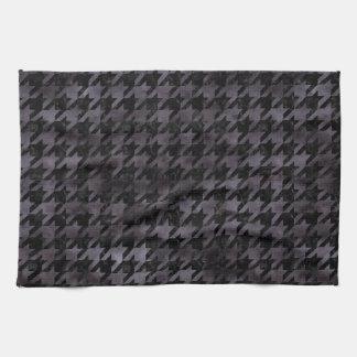 HOUNDSTOOTH1 BLACK MARBLE & BLACK WATERCOLOR TEA TOWEL