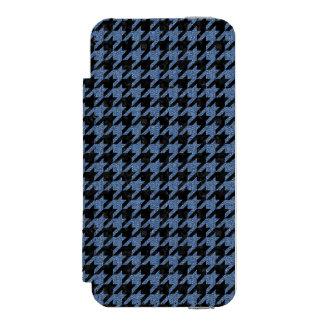 HOUNDSTOOTH1 BLACK MARBLE & BLUE DENIM INCIPIO WATSON™ iPhone 5 WALLET CASE