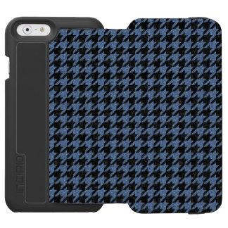 HOUNDSTOOTH1 BLACK MARBLE & BLUE DENIM INCIPIO WATSON™ iPhone 6 WALLET CASE