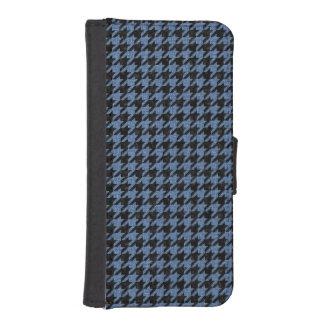HOUNDSTOOTH1 BLACK MARBLE & BLUE DENIM iPhone SE/5/5s WALLET CASE