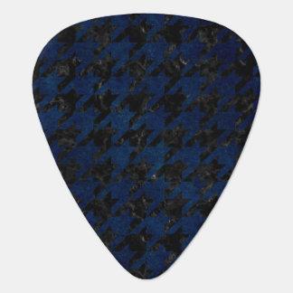HOUNDSTOOTH1 BLACK MARBLE & BLUE GRUNGE GUITAR PICK