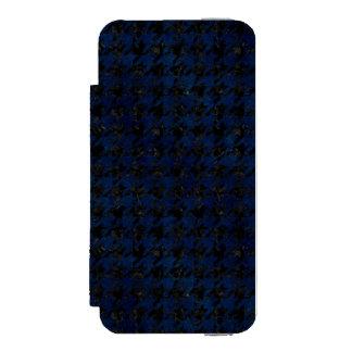 HOUNDSTOOTH1 BLACK MARBLE & BLUE GRUNGE INCIPIO WATSON™ iPhone 5 WALLET CASE
