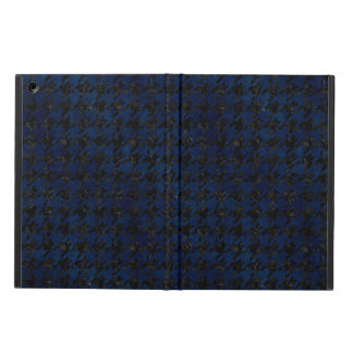 HOUNDSTOOTH1 BLACK MARBLE & BLUE GRUNGE iPad AIR CASE