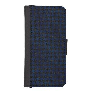 HOUNDSTOOTH1 BLACK MARBLE & BLUE GRUNGE iPhone SE/5/5s WALLET CASE