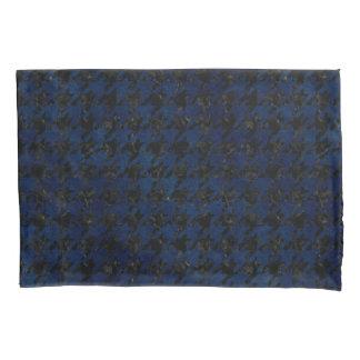 HOUNDSTOOTH1 BLACK MARBLE & BLUE GRUNGE PILLOWCASE