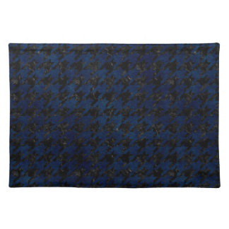 HOUNDSTOOTH1 BLACK MARBLE & BLUE GRUNGE PLACEMAT