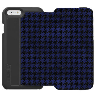 HOUNDSTOOTH1 BLACK MARBLE & BLUE LEATHER INCIPIO WATSON™ iPhone 6 WALLET CASE
