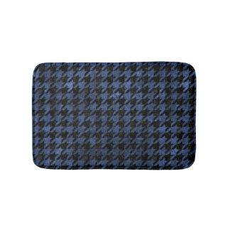HOUNDSTOOTH1 BLACK MARBLE & BLUE STONE BATH MAT