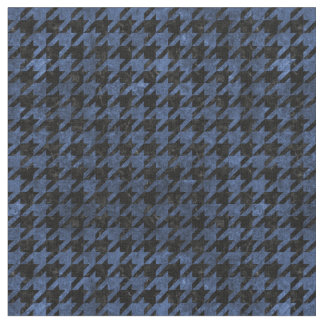 HOUNDSTOOTH1 BLACK MARBLE & BLUE STONE FABRIC
