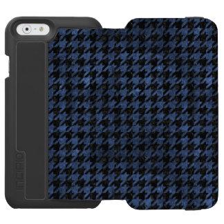 HOUNDSTOOTH1 BLACK MARBLE & BLUE STONE INCIPIO WATSON™ iPhone 6 WALLET CASE