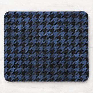 HOUNDSTOOTH1 BLACK MARBLE & BLUE STONE MOUSE PAD