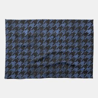 HOUNDSTOOTH1 BLACK MARBLE & BLUE STONE TEA TOWEL