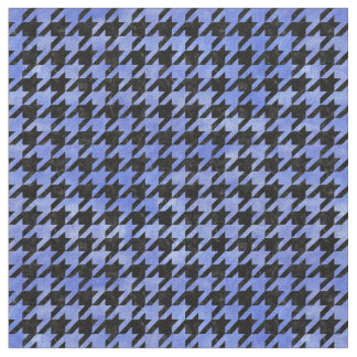 HOUNDSTOOTH1 BLACK MARBLE & BLUE WATERCOLOR FABRIC