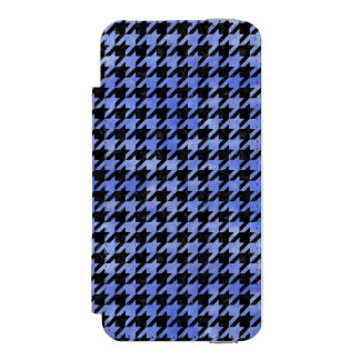 HOUNDSTOOTH1 BLACK MARBLE & BLUE WATERCOLOR INCIPIO WATSON™ iPhone 5 WALLET CASE