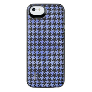 HOUNDSTOOTH1 BLACK MARBLE & BLUE WATERCOLOR iPhone SE/5/5s BATTERY CASE