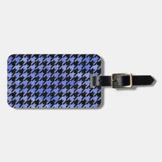HOUNDSTOOTH1 BLACK MARBLE & BLUE WATERCOLOR LUGGAGE TAG