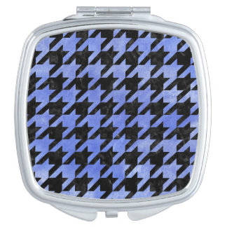 HOUNDSTOOTH1 BLACK MARBLE & BLUE WATERCOLOR MAKEUP MIRRORS