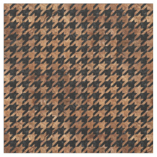 HOUNDSTOOTH1 BLACK MARBLE & BROWN STONE FABRIC