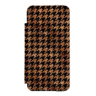 HOUNDSTOOTH1 BLACK MARBLE & BROWN STONE INCIPIO WATSON™ iPhone 5 WALLET CASE