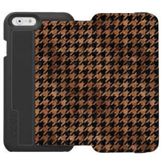 HOUNDSTOOTH1 BLACK MARBLE & BROWN STONE INCIPIO WATSON™ iPhone 6 WALLET CASE