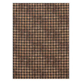 HOUNDSTOOTH1 BLACK MARBLE & BROWN STONE TABLECLOTH