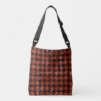 HOUNDSTOOTH1 BLACK MARBLE & RED MARBLE CROSSBODY BAG