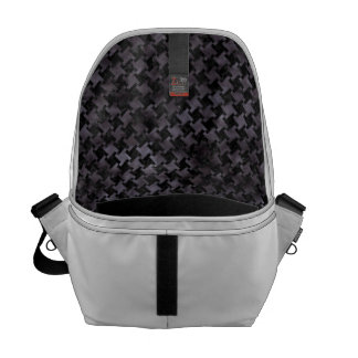 HOUNDSTOOTH2 BLACK MARBLE & BLACK WATERCOLOR COURIER BAGS