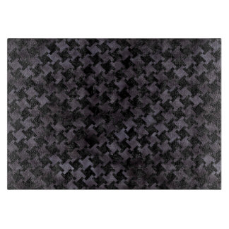 HOUNDSTOOTH2 BLACK MARBLE & BLACK WATERCOLOR CUTTING BOARD