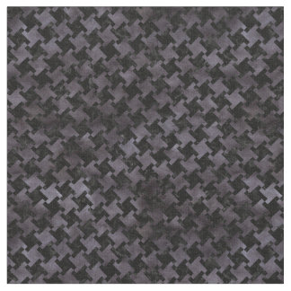 HOUNDSTOOTH2 BLACK MARBLE & BLACK WATERCOLOR FABRIC