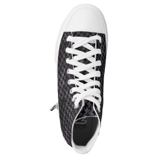 HOUNDSTOOTH2 BLACK MARBLE & BLACK WATERCOLOR HIGH TOPS