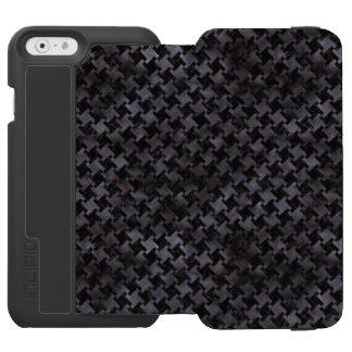 HOUNDSTOOTH2 BLACK MARBLE & BLACK WATERCOLOR INCIPIO WATSON™ iPhone 6 WALLET CASE