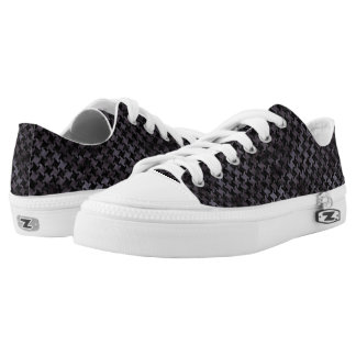 HOUNDSTOOTH2 BLACK MARBLE & BLACK WATERCOLOR LOW TOPS