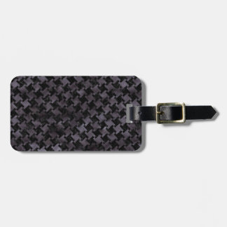 HOUNDSTOOTH2 BLACK MARBLE & BLACK WATERCOLOR LUGGAGE TAG