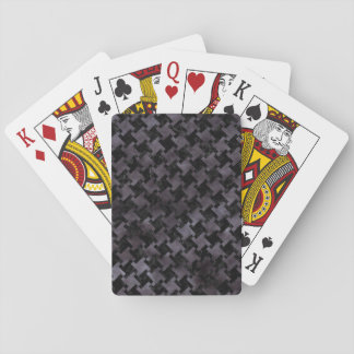 HOUNDSTOOTH2 BLACK MARBLE & BLACK WATERCOLOR PLAYING CARDS