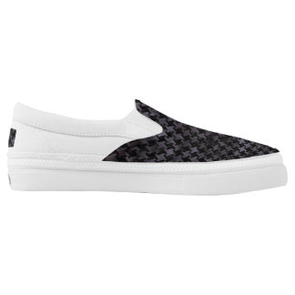 HOUNDSTOOTH2 BLACK MARBLE & BLACK WATERCOLOR Slip-On SHOES