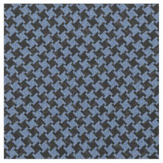 HOUNDSTOOTH2 BLACK MARBLE & BLUE DENIM FABRIC