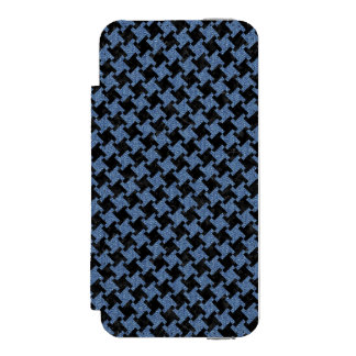 HOUNDSTOOTH2 BLACK MARBLE & BLUE DENIM INCIPIO WATSON™ iPhone 5 WALLET CASE