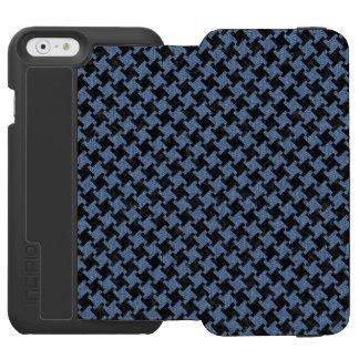 HOUNDSTOOTH2 BLACK MARBLE & BLUE DENIM INCIPIO WATSON™ iPhone 6 WALLET CASE