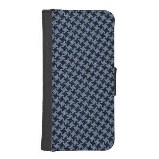 HOUNDSTOOTH2 BLACK MARBLE & BLUE DENIM iPhone SE/5/5s WALLET CASE