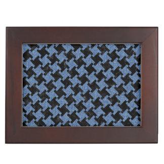 HOUNDSTOOTH2 BLACK MARBLE & BLUE DENIM KEEPSAKE BOX